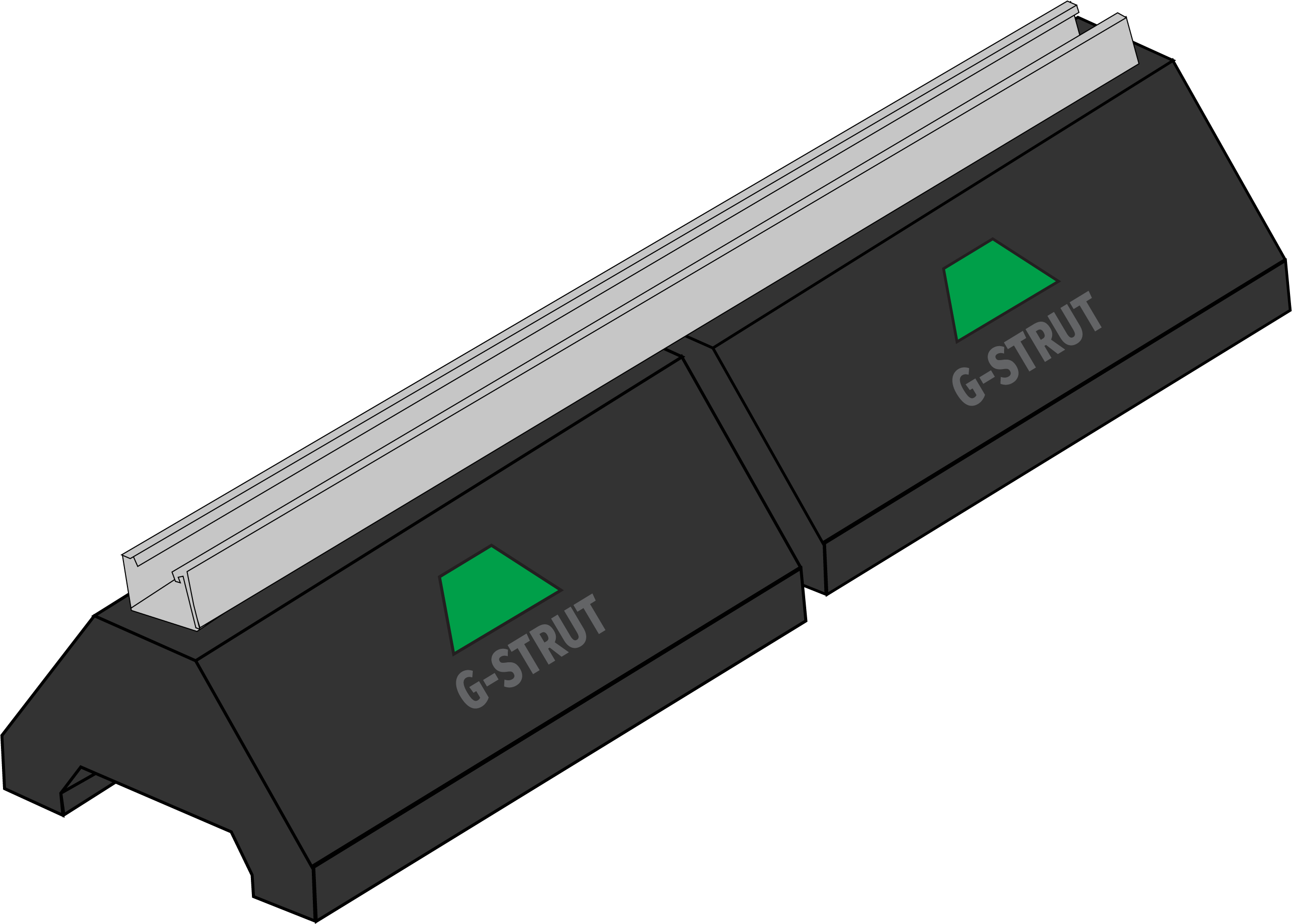 GRB102 Rooftop Support Block